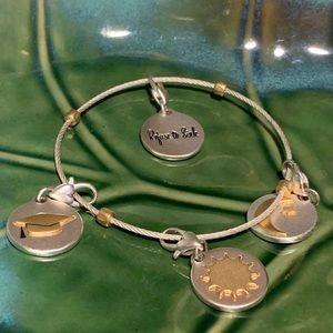 Amanda Blu Charm Bracelet 4 inspirational Charms